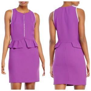 Sandro Purple Peplum Dress Size 2